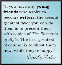 Dorothy Parker on the Elements of Style