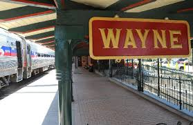 Wayne train station sign